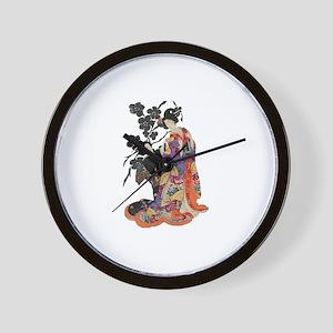 Black Cerry Geisha Wall Clock
