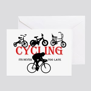 Cycling Cyclists Greeting Cards (Pk of 20)
