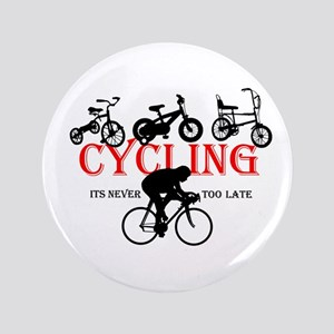 "Cycling Cyclists 3.5"" Button"
