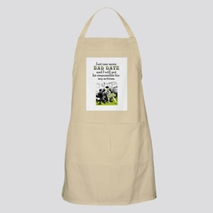 One More Bad Date BBQ Apron