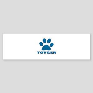 Toyger Cat Designs Sticker (Bumper)