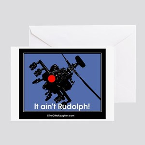 apache black rudolph II Greeting Cards