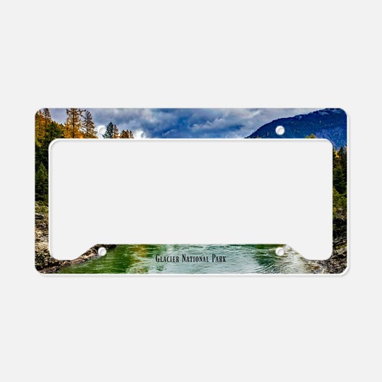Cute Glacier national park License Plate Holder