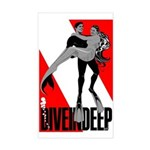Diver and Mermaid Rectangle Sticker