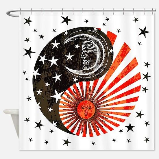 Cute Lunar Shower Curtain