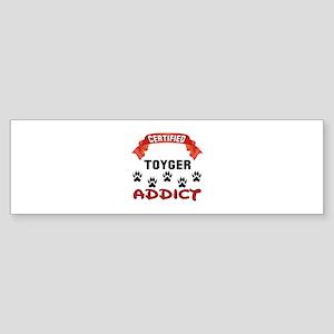 Certified Toyger Addict Sticker (Bumper)