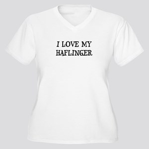 I Love My Haflinger Women's Plus Size V-Neck T-Shi