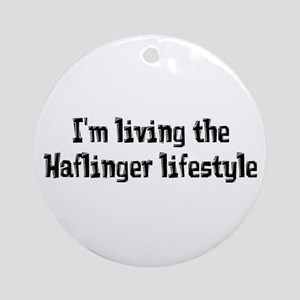 the Haflinger Lifestyle Ornament (Round)