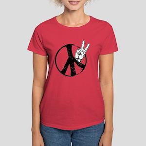 Peace 5 Women's Dark T-Shirt
