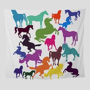 Rainbow Horses Wall Tapestry