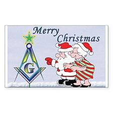 Mr. & Mrs. Claus's Masonic Christmas Sticker (Rec