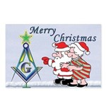 Mr. & Mrs. Claus's Masonic Christmas Postcards (P