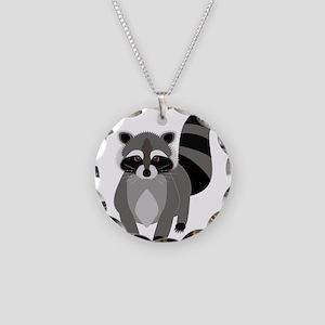 Rascally Raccoon Necklace Circle Charm