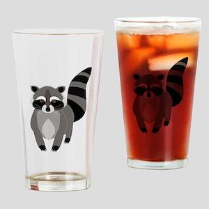 Rascally Raccoon Drinking Glass
