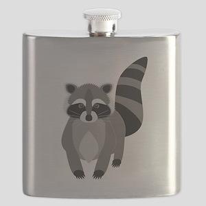 Rascally Raccoon Flask