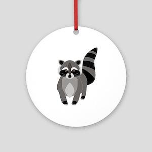 Rascally Raccoon Round Ornament