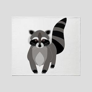 Rascally Raccoon Throw Blanket