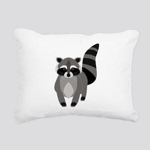 Rascally Raccoon Rectangular Canvas Pillow