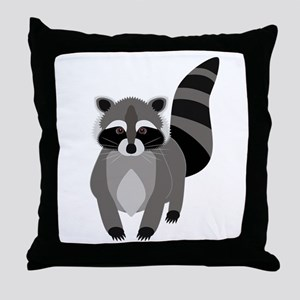 Rascally Raccoon Throw Pillow