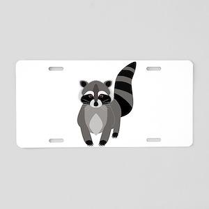 Rascally Raccoon Aluminum License Plate