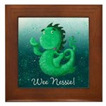Personalised Wee Nessie From Scotland Framed Tile