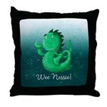 Personalised Wee Nessie From Scotland Throw Pillow