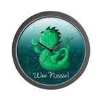 Personalised Wee Nessie From Scotland Wall Clock