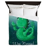 Personalised Wee Nessie From Scotland Queen Duvet