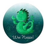 Personalised Wee Nessie From Scotland Round Car Ma