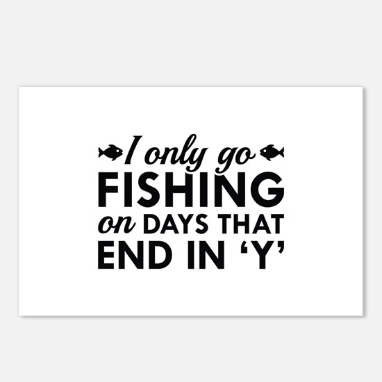 I Only Go Fishing Postcards (Package of 8)