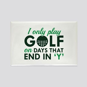I Only Play Golf Rectangle Magnet