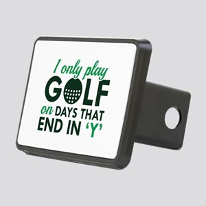 I Only Play Golf Rectangular Hitch Cover