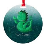 Personalisable Wee Scottish Nessie Ornament