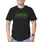 No Free Rides, Gas, Gr Men's Fitted T-Shirt (dark)