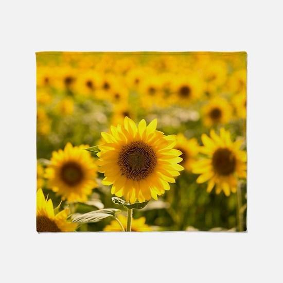 Funny Sunflowers Throw Blanket
