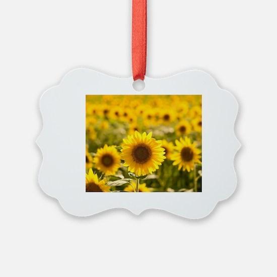 Cute Sunflower Ornament