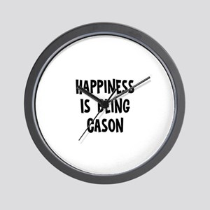 Happiness is being Cason Wall Clock
