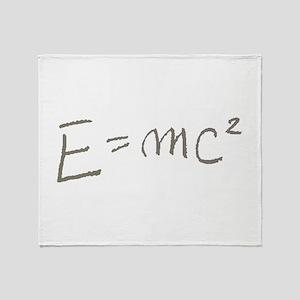 E=MC2 Throw Blanket