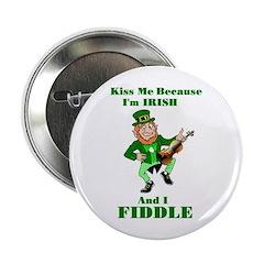 Kiss Me St. Patrick's Day Button