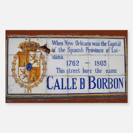 Bourbon Street Rectangle Decal