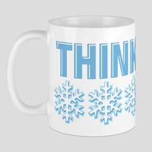 Think Snow Blue Mug