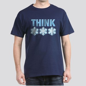 Think Snow Blue Dark T-Shirt