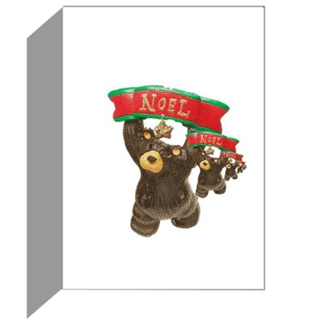 BEARS IN CHRISMAS TREES Greeting Cards (Pk of 20)
