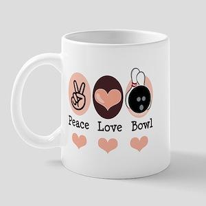 Peace Love Bowl Bowling Mug