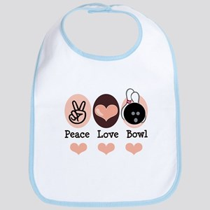 Peace Love Bowl Bowling Bib