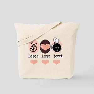 Peace Love Bowl Bowling Tote Bag