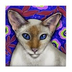 RED POINT SIAMESE CAT Tile Coaster
