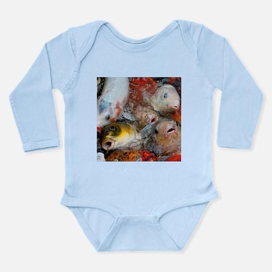 Feeding Koi Long Sleeve Infant Body Suit