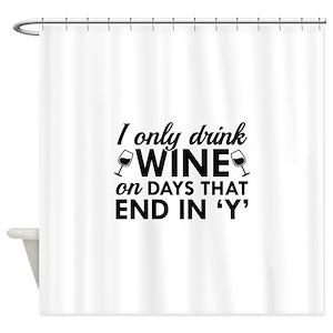 Wine Tasting Shower Curtains