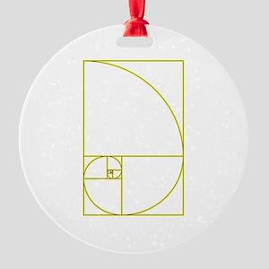 Golden Ratio Round Ornament